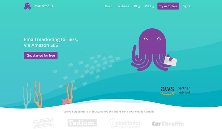 alternative a mailchimp emailoctopus