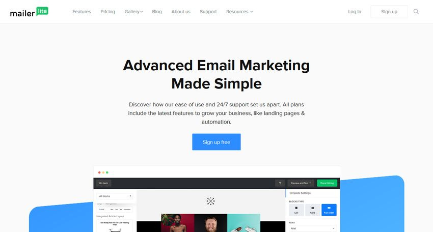 alternative a mailchimp mailerlite