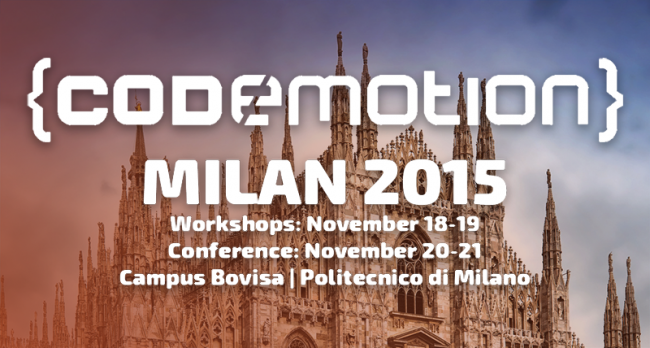 Codemotion Milano 2015