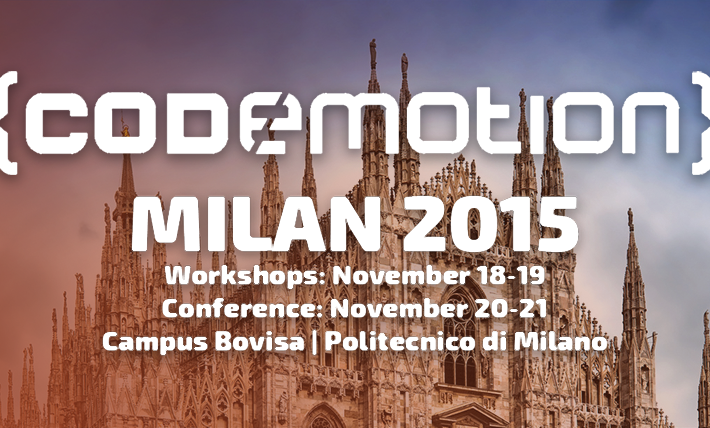 Codemotion Milano 2015