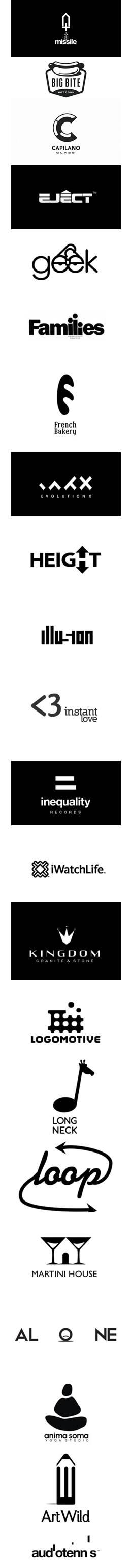 creazione logo bianco nero 2