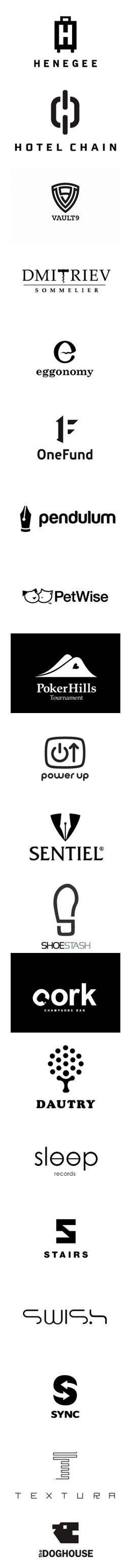 creazione logo bianco nero