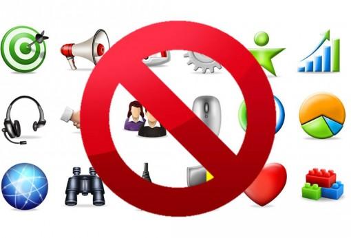 Logo aziendale, icone vietate