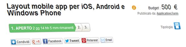 contest grafico per mobile app