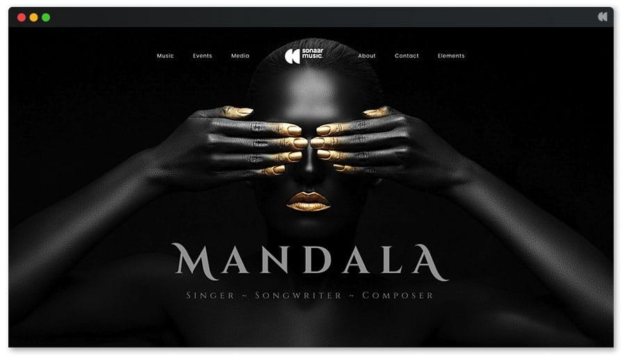 siti per musicisti temi wordpress mandala