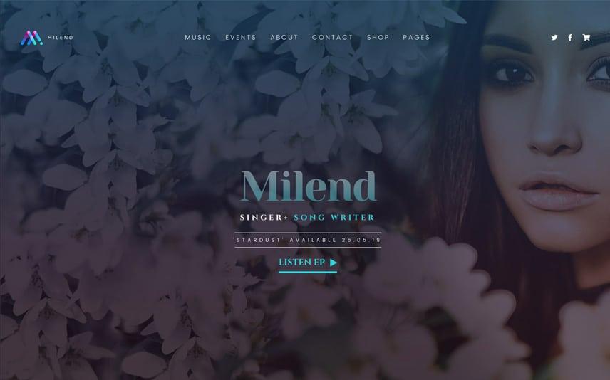 siti per musicisti temi wordpress milend