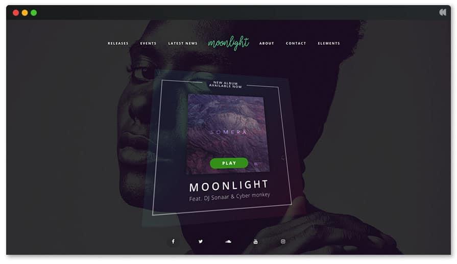 siti per musicisti temi wordpress moonlight